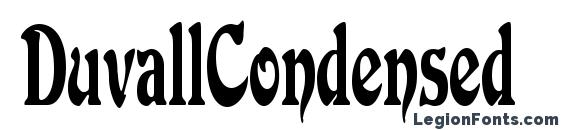 DuvallCondensed Font