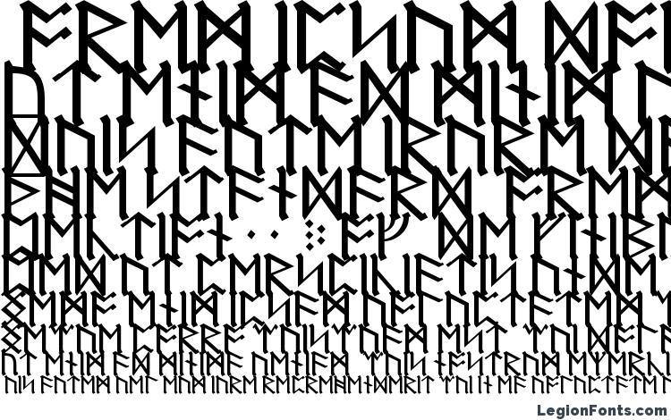 specimens Dwarf Runes font, sample Dwarf Runes font, an example of writing Dwarf Runes font, review Dwarf Runes font, preview Dwarf Runes font, Dwarf Runes font