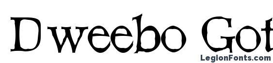 Dweebo Gothic Font