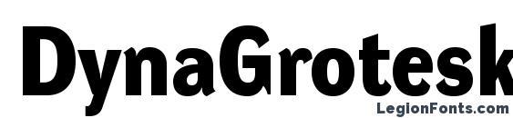 DynaGroteskD Bold Font, OTF Fonts