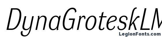 Шрифт DynaGroteskLM Italic