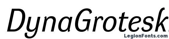 DynaGroteskR Italic Font