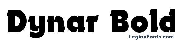 Dynar Bold font, free Dynar Bold font, preview Dynar Bold font
