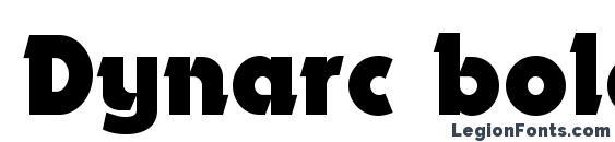 Dynarc bold font, free Dynarc bold font, preview Dynarc bold font