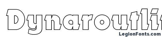 Dynaroutlinec font, free Dynaroutlinec font, preview Dynaroutlinec font
