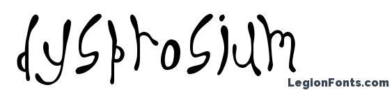 Шрифт Dysprosium