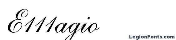Шрифт E111agio