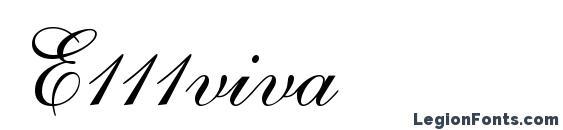 шрифт E111viva, бесплатный шрифт E111viva, предварительный просмотр шрифта E111viva