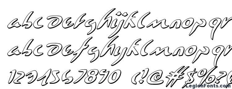 глифы шрифта Eagleclaw 3D Italic, символы шрифта Eagleclaw 3D Italic, символьная карта шрифта Eagleclaw 3D Italic, предварительный просмотр шрифта Eagleclaw 3D Italic, алфавит шрифта Eagleclaw 3D Italic, шрифт Eagleclaw 3D Italic