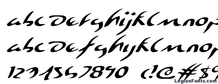 glyphs Eagleclaw Expanded Italic font, сharacters Eagleclaw Expanded Italic font, symbols Eagleclaw Expanded Italic font, character map Eagleclaw Expanded Italic font, preview Eagleclaw Expanded Italic font, abc Eagleclaw Expanded Italic font, Eagleclaw Expanded Italic font