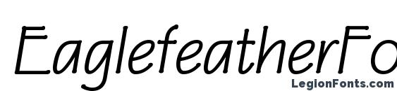 EaglefeatherFormalRegularIt font, free EaglefeatherFormalRegularIt font, preview EaglefeatherFormalRegularIt font