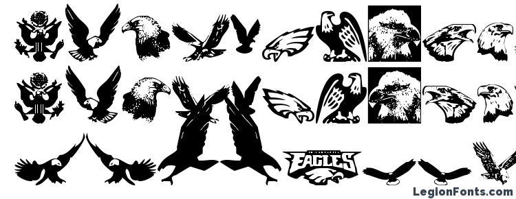glyphs Eaglemania font, сharacters Eaglemania font, symbols Eaglemania font, character map Eaglemania font, preview Eaglemania font, abc Eaglemania font, Eaglemania font