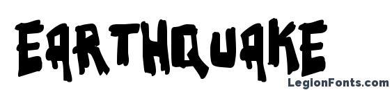 шрифт Earthquake, бесплатный шрифт Earthquake, предварительный просмотр шрифта Earthquake