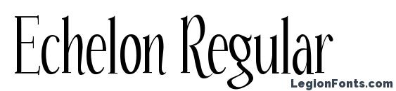 Echelon Regular Font