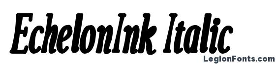 EchelonInk Italic Font