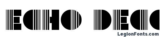 Echo Deco Font