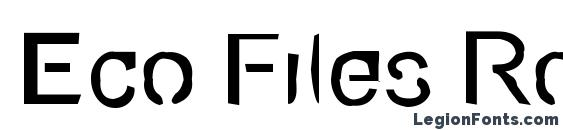 Eco Files Rough Font