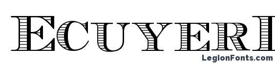 Шрифт EcuyerDAX