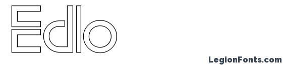 шрифт Edlo, бесплатный шрифт Edlo, предварительный просмотр шрифта Edlo