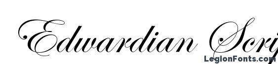 edwardian script free download mac