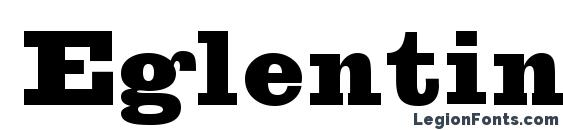 Шрифт Eglentine