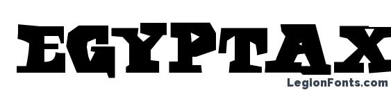 Шрифт Egyptaxt