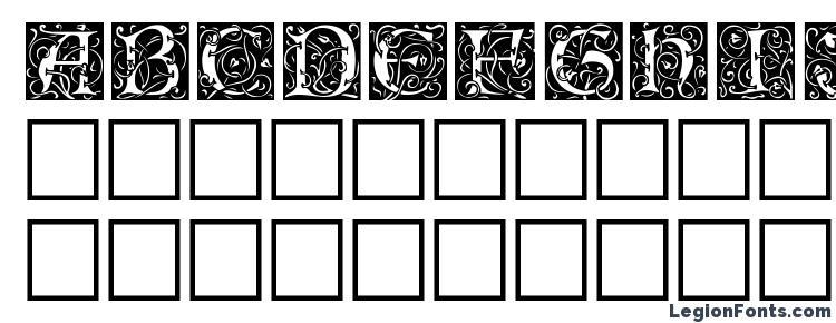 глифы шрифта Eicap, символы шрифта Eicap, символьная карта шрифта Eicap, предварительный просмотр шрифта Eicap, алфавит шрифта Eicap, шрифт Eicap