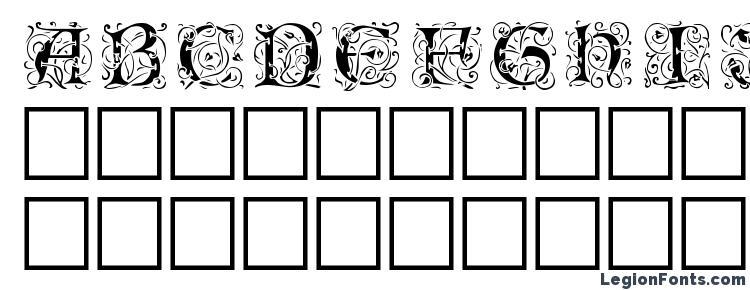 глифы шрифта Eicbl, символы шрифта Eicbl, символьная карта шрифта Eicbl, предварительный просмотр шрифта Eicbl, алфавит шрифта Eicbl, шрифт Eicbl
