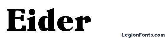 Eider Font