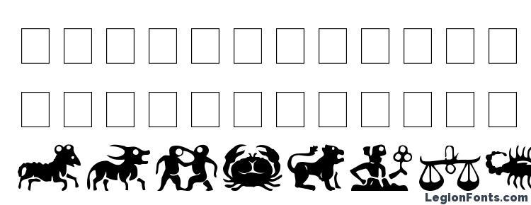 glyphs Eileens Zodiac font, сharacters Eileens Zodiac font, symbols Eileens Zodiac font, character map Eileens Zodiac font, preview Eileens Zodiac font, abc Eileens Zodiac font, Eileens Zodiac font