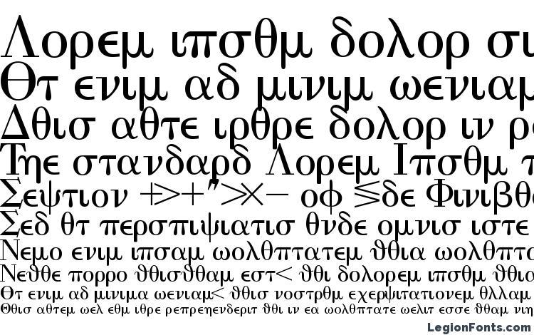 specimens Eisagogreekssk font, sample Eisagogreekssk font, an example of writing Eisagogreekssk font, review Eisagogreekssk font, preview Eisagogreekssk font, Eisagogreekssk font