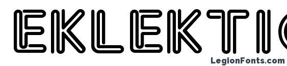 Eklektic Normal Font