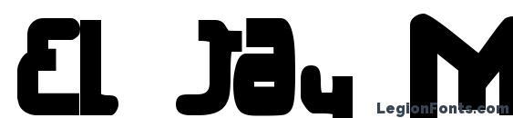 El jay mixmix bold font, free El jay mixmix bold font, preview El jay mixmix bold font