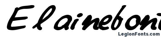 Elainefont81 bold Font