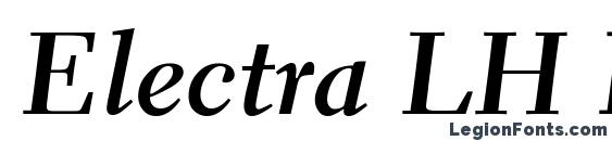 Шрифт Electra LH Bold Cursive Oldstyle Figures