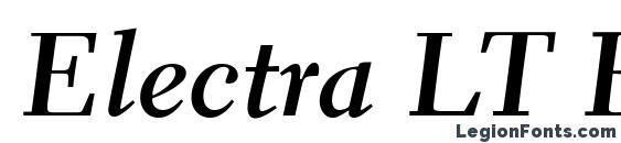 Шрифт Electra LT Bold Cursive
