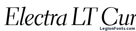 Шрифт Electra LT Cursive Display