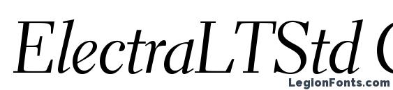 Шрифт ElectraLTStd CursiveDisplay