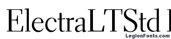 ElectraLTStd Display Font
