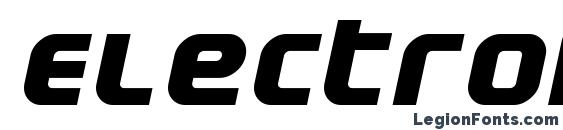 Electrofied bolditalic Font