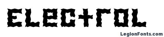 шрифт Electrol, бесплатный шрифт Electrol, предварительный просмотр шрифта Electrol