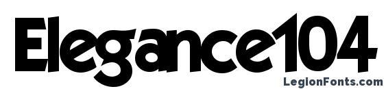 Шрифт Elegance104 bold