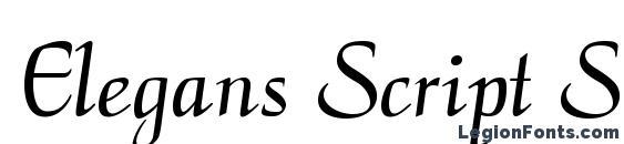 Elegans Script SSi Font
