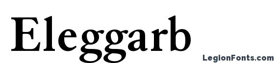 Шрифт Eleggarb