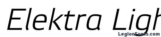 Шрифт Elektra Light Pro Italic