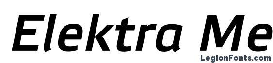 Elektra Medium Pro Italic Font