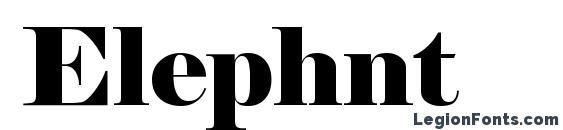 Шрифт Elephnt