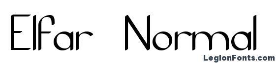 Elfar Normal G98 Font