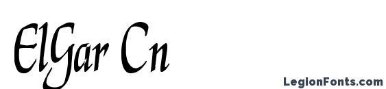 Шрифт ElGar Cn, Курсив шрифты