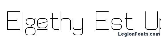 Elgethy Est Upper Font